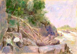 Krajina s postavami | Dezider Czölder | Oil Painting