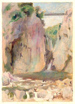 Krajina s vodopádom | Dezider Czölder | Oil Painting