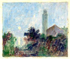 Krajina s kostolom | Dezider Czölder | Oil Painting