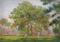Krajina so stromami | Dezider Czölder | Oil Painting