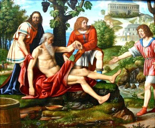 Ham Mocking Noah   Bernardino Luini   Oil Painting