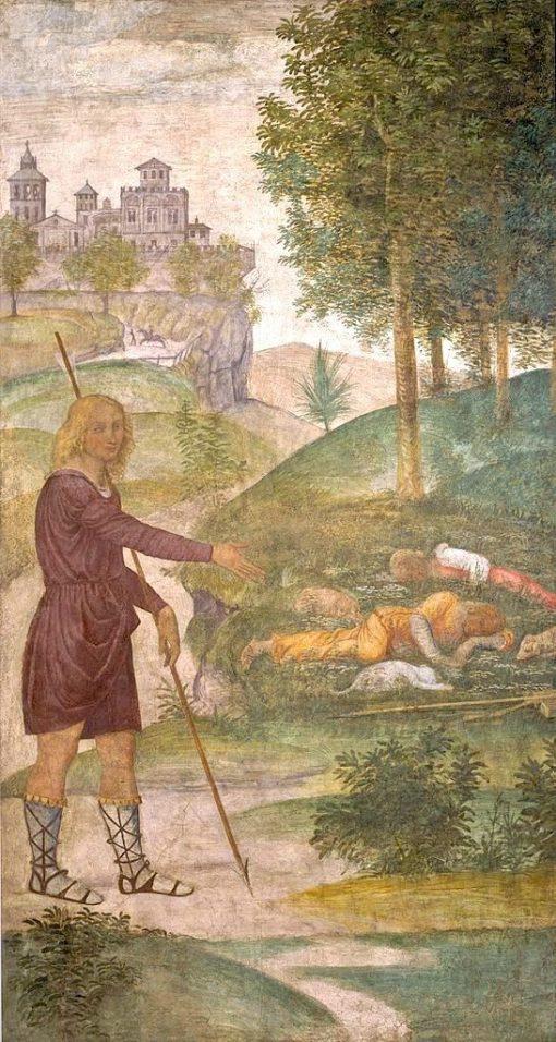 Cephalus and the Nymphs | Bernardino Luini | Oil Painting