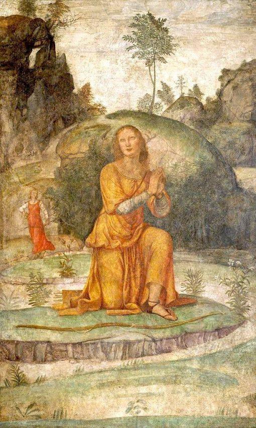 Procris' Prayer to Diana   Bernardino Luini   Oil Painting