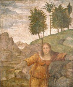 Procris Pierced by Cephalus' Javelin | Bernardino Luini | Oil Painting