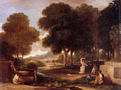 Landscape with a Man Washing his Feet at a Fountain (after Poussin) | James Barry | Oil Painting