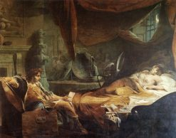 Iachimo Emerging from the Chest in Imogen's Chamber | James Barry | Oil Painting