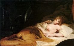 Imogen Sleeping in Her Chamber | James Barry | Oil Painting