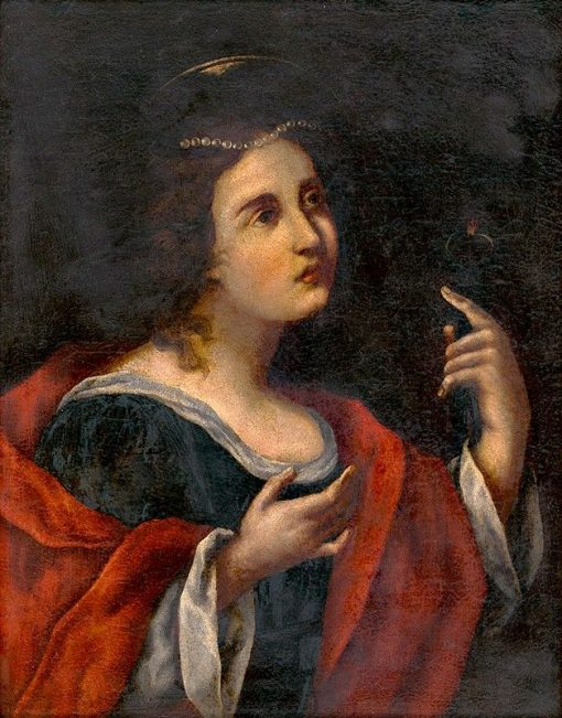 Holy Apolonia   Carlo Dolci   Oil Painting