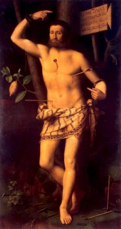 Saint Sebastian | Bernardino Luini | Oil Painting