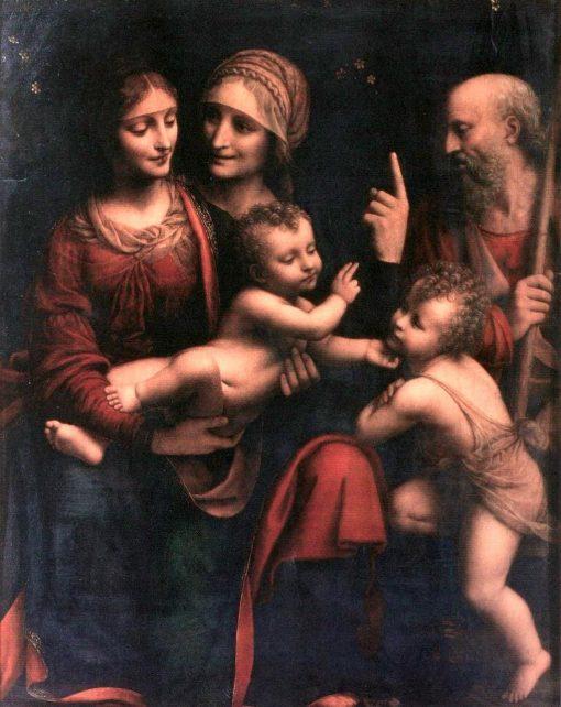 Holy Family with Saint Anne and Saint John   Bernardino Luini   Oil Painting