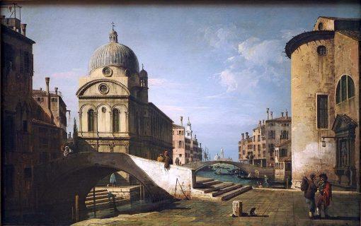 Architectural fantasy with Santa Maria dei Miracoli