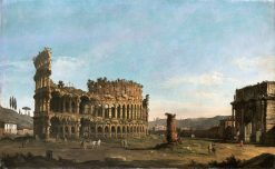 Colosseum and Arch of Constantine | Bernardo Bellotto | Oil Painting