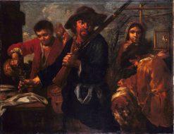 Huntsman's Return   Bernhard Keil   Oil Painting