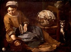 The Lacemaker | Bernhard Keil | Oil Painting