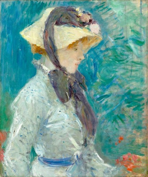 Young Woman with a Straw Hat | Berthe Morisot | Oil Painting