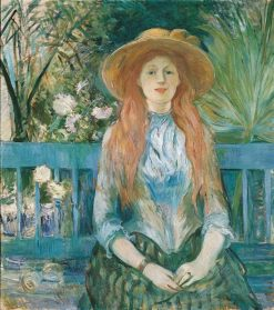 Young Girl in a Park | Berthe Morisot | Oil Painting