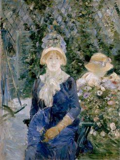 Woman in a Garden | Berthe Morisot | Oil Painting