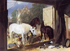 The Stableyard at Meopham Park | John Frederick Herring
