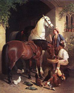 Feeding the Horses | John Frederick Herring