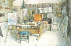 The Studio | Carl Larsson | Oil Painting