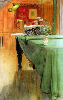 Brita at the Piano | Carl Larsson | Oil Painting