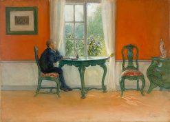 Ehtoja luetaan | Carl Larsson | Oil Painting