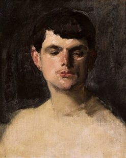 Study of a Man's Head | Charles Auguste Émile Durand | Oil Painting