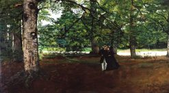 Promenade in the Woods | Charles Auguste Émile Durand | Oil Painting