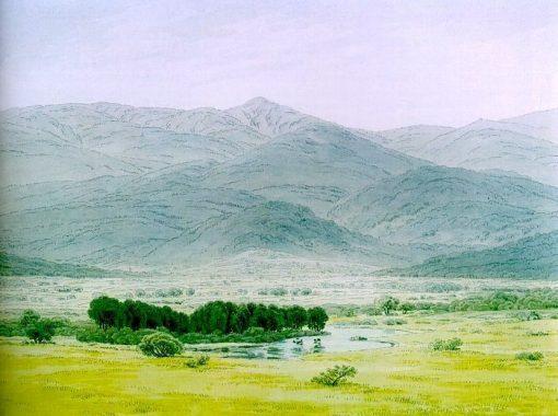 Landscape in the Riesengebirge | Caspar David Friedrich | Oil Painting