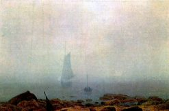 Sea Beach in the Fog   Caspar David Friedrich   Oil Painting