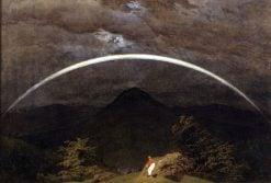Mountain Landscape with Rainbow | Caspar David Friedrich | Oil Painting