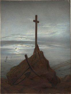 Cross on the Baltic Sea | Caspar David Friedrich | Oil Painting