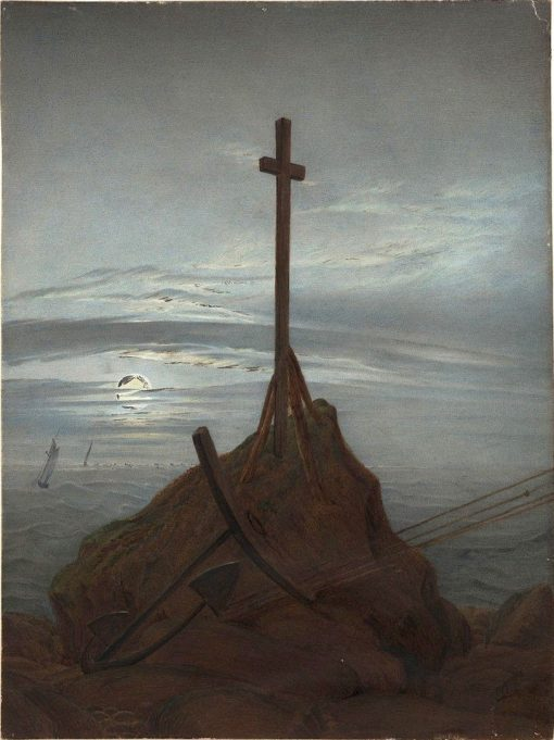 Cross on the Baltic Sea | Caspar David Friedrich | Oil Painting
