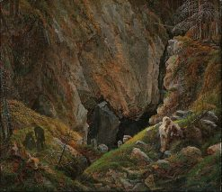 Rock Canyon in the Harz | Caspar David Friedrich | Oil Painting