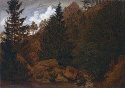 Rocks in the Harz Mountains | Caspar David Friedrich | Oil Painting