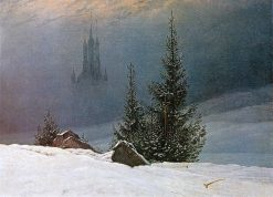 Winter Landscape with Church | Caspar David Friedrich | Oil Painting
