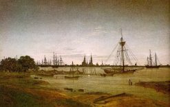 Harbor by Moonlight | Caspar David Friedrich | Oil Painting