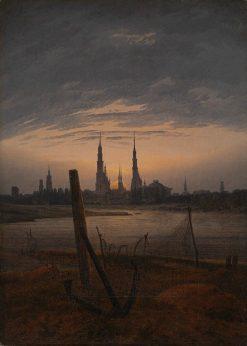 City at Moonrise | Caspar David Friedrich | Oil Painting
