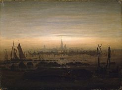 Greifswald in Moonlight | Caspar David Friedrich | Oil Painting