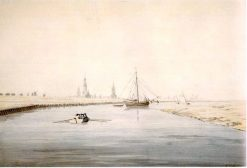 View of Greifswald from the East | Caspar David Friedrich | Oil Painting