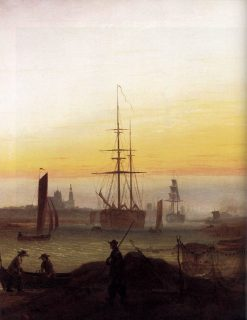 View of a Harbour | Caspar David Friedrich | Oil Painting