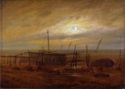 Seaside Moonlight | Caspar David Friedrich | Oil Painting