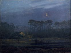 Evening on the River | Caspar David Friedrich | Oil Painting