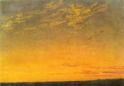 Evening with Clouds | Caspar David Friedrich | Oil Painting