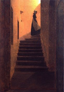 Woman on the Stairs | Caspar David Friedrich | Oil Painting