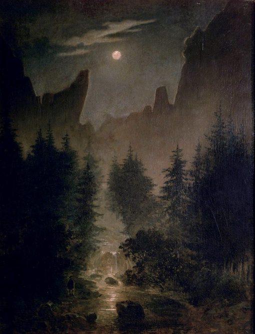 Uttenwalder Grund | Caspar David Friedrich | Oil Painting