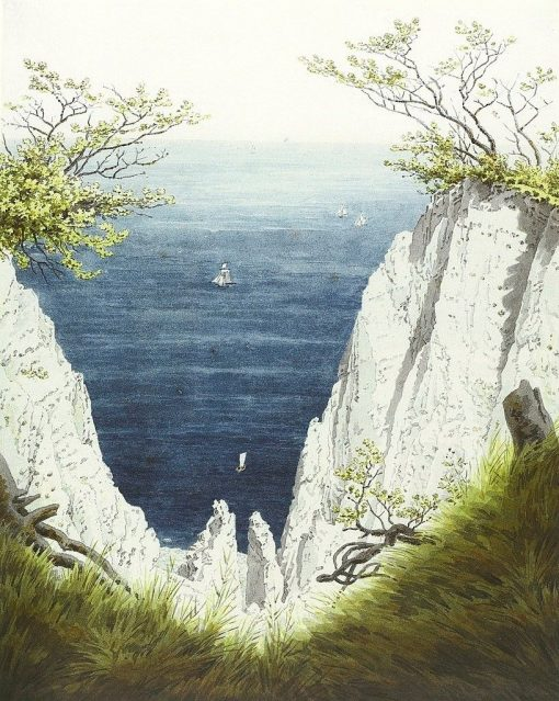 Chalk Cliffs at Ruegen | Caspar David Friedrich | Oil Painting