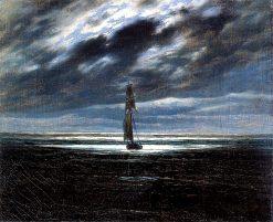Seapiece by Moonlight   Caspar David Friedrich   Oil Painting