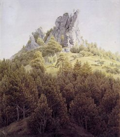 The Heldstein near Rathen on the Elbe | Caspar David Friedrich | Oil Painting