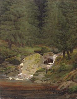 The Evergreens by the Waterfall | Caspar David Friedrich | Oil Painting